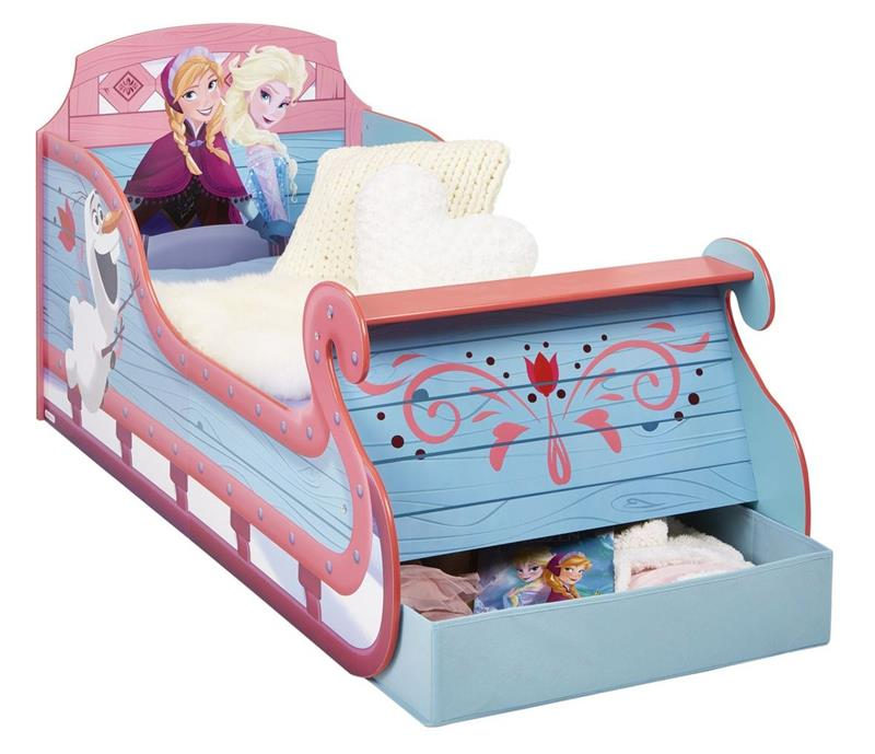 eisk nigin schlitten kinderbett frozen anna elsa olaf m dchen 70x140 m schubbox ebay. Black Bedroom Furniture Sets. Home Design Ideas