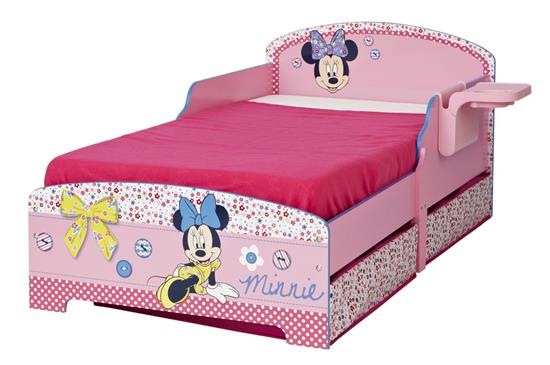 kinderbett 70 x 140 cm minnie mouse maus m dchen bett mit. Black Bedroom Furniture Sets. Home Design Ideas