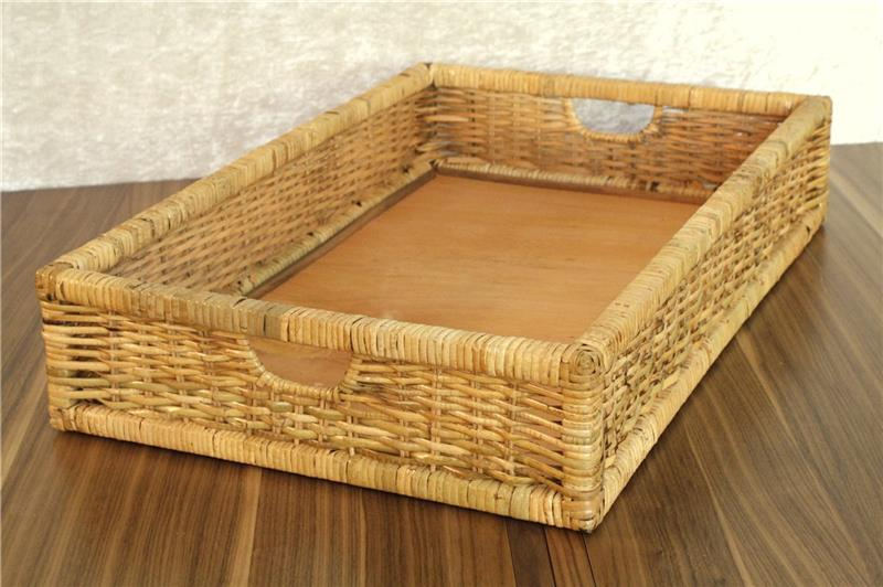 rattankorb rattan flechtkorb aufbewahrung korb hartgeflecht lackiert 62 x 42 cm ebay. Black Bedroom Furniture Sets. Home Design Ideas