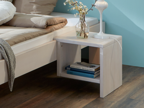 futonbett julia ehebett buche massiv wei 180x200 white wash und 2 nachttische. Black Bedroom Furniture Sets. Home Design Ideas