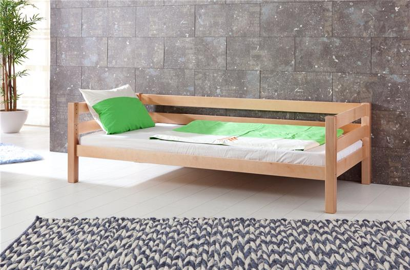 hochbett spielbett buche massivholz natur mit rutsche schr grutsche in blau wei ebay. Black Bedroom Furniture Sets. Home Design Ideas