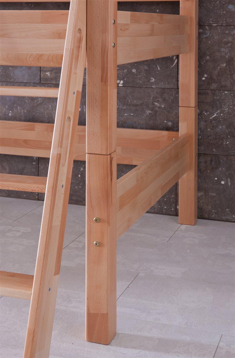 hochbett spielbett buche massiv natur schr gleiter mit schreibtisch regal ebay. Black Bedroom Furniture Sets. Home Design Ideas