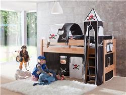 tunnel 75 cm f r hochbett spielbett etagenbett dekor pirat halterungen natur ebay. Black Bedroom Furniture Sets. Home Design Ideas