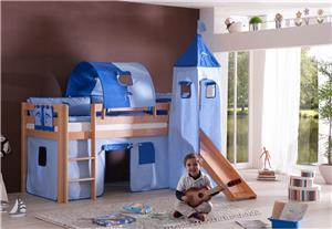 tunnel 75 cm f r hochbett spielbett etagenbett blau delphin halterungen natur ebay. Black Bedroom Furniture Sets. Home Design Ideas