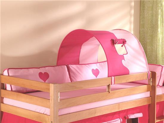 1er tunnel f r hochbett spielbett etagenbett pink rosa. Black Bedroom Furniture Sets. Home Design Ideas