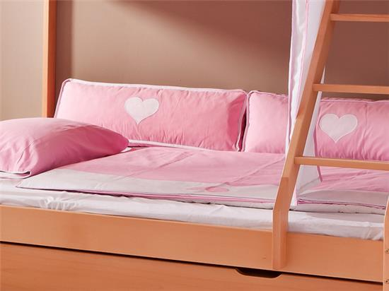 seitenkissen f r hochbett spielbett etagenbett oder einzelbett kissen rosa weiss ebay. Black Bedroom Furniture Sets. Home Design Ideas