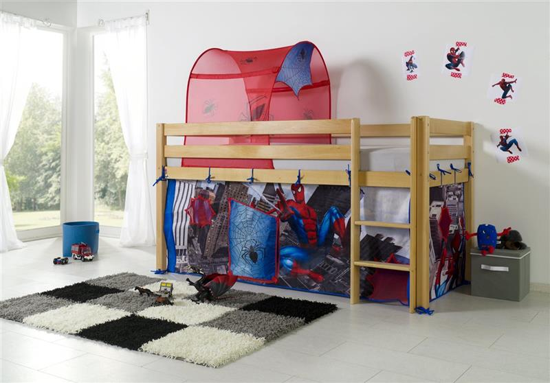 vorhang tunnel textilset f r hochbett spielbett etagenbett spiderman. Black Bedroom Furniture Sets. Home Design Ideas