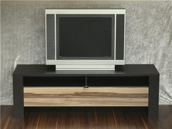 tv lowboard unterschrank mediaelement fernsehtisch tv bank schwarzbraun walnuss ebay. Black Bedroom Furniture Sets. Home Design Ideas