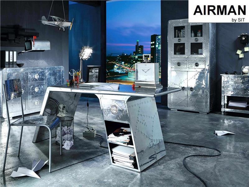 Wohnzimmertisch Retro Couchtisch Airman Schublade