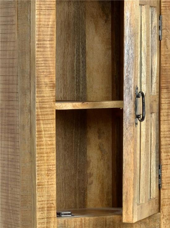 h ngeschrank rustic wandschrank bad badschrank mango holz massiv shabby stil ebay. Black Bedroom Furniture Sets. Home Design Ideas
