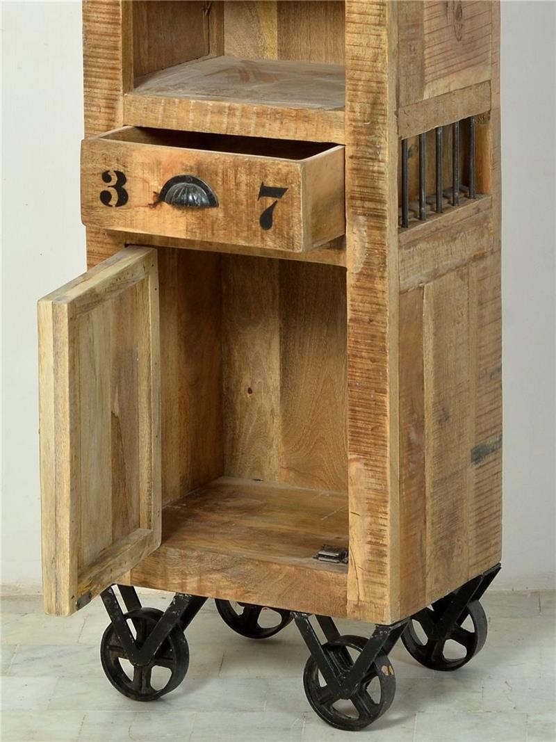 badezimmer set rustic schrank kommode spiegel mangoholz. Black Bedroom Furniture Sets. Home Design Ideas