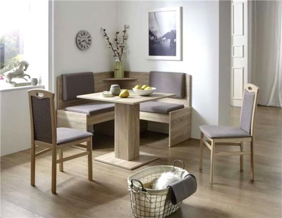 eckbankgruppe tischgruppe essecke eckbank tisch st hle sonoma eiche java ebay. Black Bedroom Furniture Sets. Home Design Ideas
