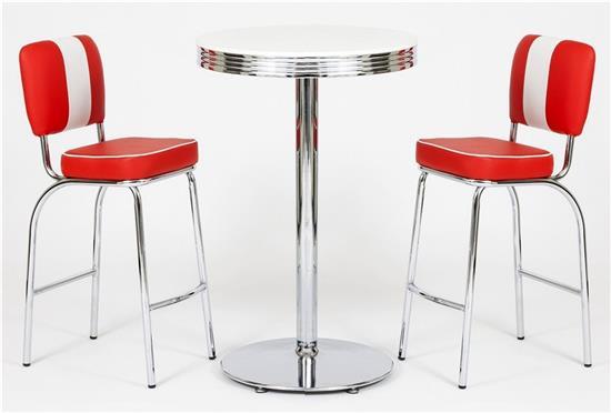 set american diner bar tischgruppe barhocker barstuhl. Black Bedroom Furniture Sets. Home Design Ideas