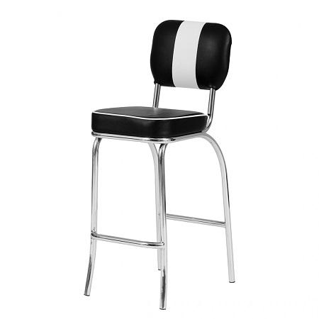set american diner tischgruppe barhocker barstuhl bartisch 50er look schwarz c ebay. Black Bedroom Furniture Sets. Home Design Ideas