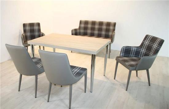 tischgruppe 6 tlg essecke sitzbank bankgruppe polsterstuhl. Black Bedroom Furniture Sets. Home Design Ideas