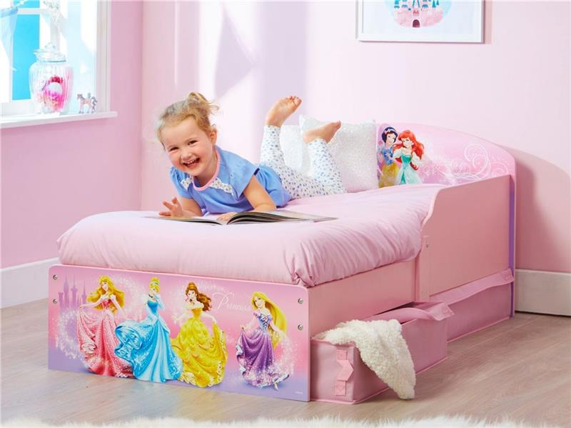 kinderbett disney princess ii m dchen prinzessin bett 70x140 cm mit matratze ebay. Black Bedroom Furniture Sets. Home Design Ideas