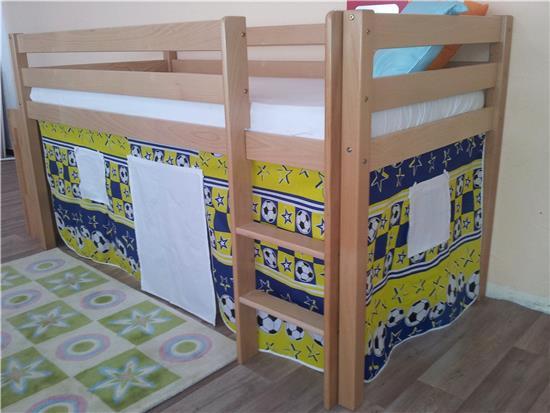 Etagenbett Nischenhöhe : Vorhang für seiten hochbett spielbett etagenbett fußball in