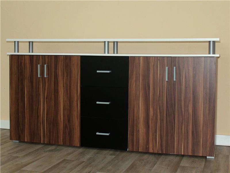 sideboard schwarz wei wohndesign und innenraum ideen. Black Bedroom Furniture Sets. Home Design Ideas